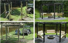 Outdoor... patio.. fire pit swing set love.