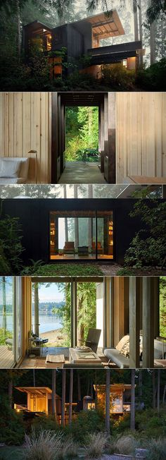 You would think that a cabin in the woods that has been remodeled four times since its original creation, like the Longbranch Cabin has been, would be structurally unsound. But the bunk house, designed by Jim Olson from Olson Kundig Architects, is holding strong.  The Puget Sound-set cabin sits at just 14-square foot, and it has been expanded numerous times spanning six decades.