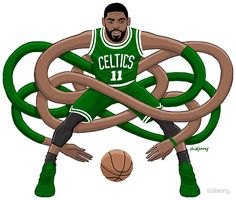 Milestones of College Basketball. Basketball is a favorite pastime of kids and adults alike. Kyrie Irving Logo, Kyrie Irving Celtics, Irving Nba, Basketball Funny, Basketball Art, Basketball Pictures, Basketball Uniforms, Irving Wallpapers, Nba Wallpapers