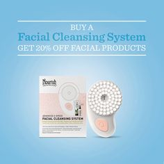 Buy a facial cleansing system and take 20% off all face products - great to give, or to keep!