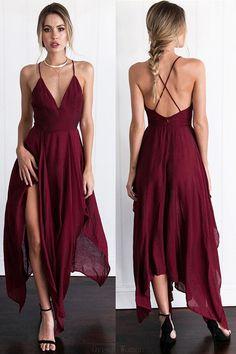 Chiffon Prom Dresses #ChiffonPromDresses, Burgundy Prom Dresses #BurgundyPromDresses, Prom Dresses Red #PromDressesRed, Prom Dresses Long #PromDressesLong