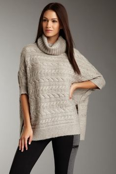 Cowl neck cable kniit sweater by Romeo and Juliet. Only $39.00 on Ideeli.com