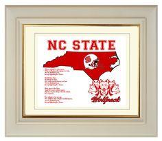 North Carolina NC State Wolfpack Football by PatriotIslandDesigns, $14.00