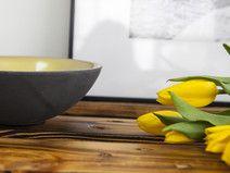 Bowl de cemento - decoración del hogar - hecho a mano en DaWanda.es