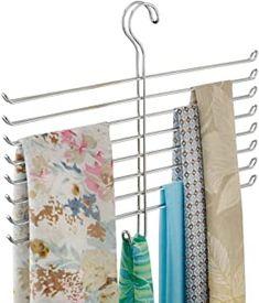 Amazon.com : scarf organizer Wardrobe Storage, Closet Storage, Organizing Purses In Closet, Hanging Closet, Hanging Storage, Tie Hanger, Hangers, Scarf Holder, Scarf Organization