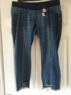 37addfc99e4 New Next Materity Slim Slouch Crop Jeans Size 12 Short bnwt Over Bump   fashion