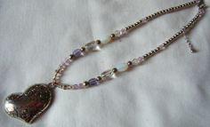 collana con perline e ciondolo cuore in metallo, by crys_e_cri, 5,00 € su misshobby.com