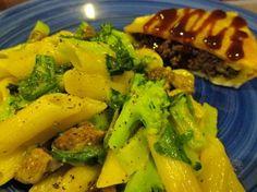 fresh green veggies & short pasta
