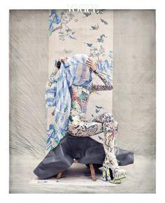 Korea: The Art of Korean Fashion - -Style Korea: The Art of Korean Fashion - - Wall Stickers of Snake by Natural History Museum x Tribal Fashion, Fashion Art, Editorial Fashion, Fashion Design, Japan Fashion, China Fashion, Traditional Fashion, Traditional Outfits, Vogue Korea