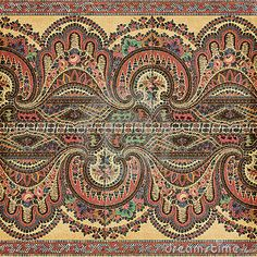 Antique Vintage paisley indian background