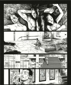 'Ultimate Saga' By Travis Charest Comic Book Layout, Comic Book Pages, Comic Book Artists, Comic Artist, Comic Books Art, Bd Comics, Manga Comics, Travis Charest, Tracing Art