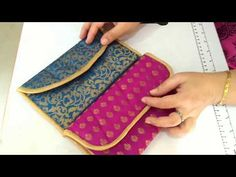 DIY Designer bag at home, partywear purse, कपडे के टुकडो . Diy Pouch No Zipper, Zipper Bags, Pouch Pattern, Embroidery Bags, Diy Purse, Bag Patterns To Sew, Fabric Bags, Cloth Bags, Handmade Bags