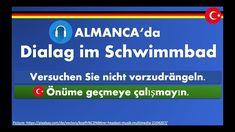 ALMANCA TELAFFUZLU DIALOGLAR im Schwimmbad, UYKUDA TEKRARLAMAK ICIN, ALM... Youtube, Youtubers, Youtube Movies