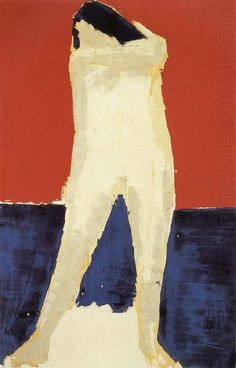 The Stand of a Nude   -   Nicolas de Staël  1953  French-Russian 1914-1955  Oil on canvas,  146x89cm.