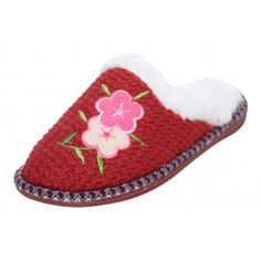 46540ae22cd8 Dunlop Ladies Faux Fur Knitted Slip On Warm Slipper Mules - Dunlop from  Jenny-Wren Footwear UK