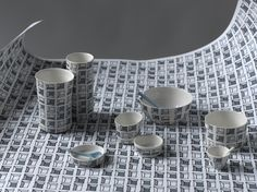 Ceramics with Keyboard surface design - Craft Awards