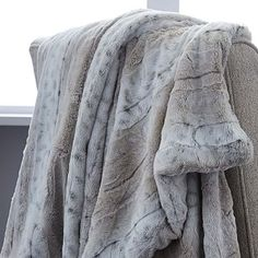 Faux Fur Leopard Ombre Throw #westelm