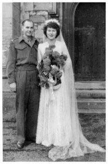 Woman in war bride is