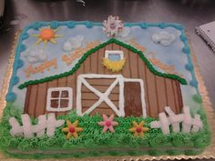 Cute lil barn cake  I decorated for a country themed birthday party.