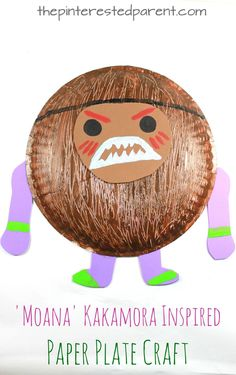 Moana fans will love these Kakamora inspired coconut pirate crafts. Moana is the new favorite movie in our house. My daughter just can't get enough of it. There are so many wonderful songs and characters…Continue Reading… Moana Party, Toddler Crafts, Preschool Crafts, Kid Crafts, Easy Crafts, Luau Crafts Preschool, Stick Crafts, Daycare Crafts, Hawaii Crafts