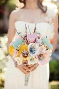 Paper bouquet, £71, Whimsyful Pretties.  MORE RECEPTION IDEAS  BE INSPIRED BY REAL-LIFE WEDDINGS  FLOWER INSPIRATION
