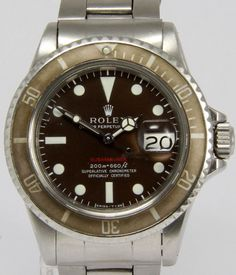 ROLEX Ref. 1680 Red Submariner Meters First, Marrone for sale by a trusted dealer on Rolex Passion Market, the No.1 Vintage Rolex Marketplace!