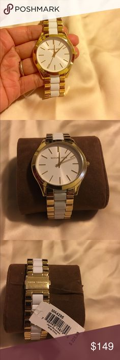 Michael Kors watch Brand new Michael Kors watch, tags attached. Battery is working. No missing links. Intact. Would make a great gift ❤️ Michael Kors Accessories Watches