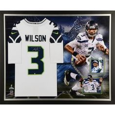 Autographed Seattle Seahawks Russell Wilson Fanatics Authentic Framed  Jersey Collage  NFLstuff  NFL  AmericanFootball 3d45fe363