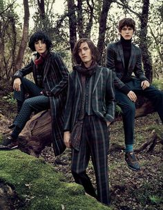 Etro fall 2016 ad campaign by Mikael Jansson Hippie Goth, Hippie Style, My Style, Dark Mori, Black Goth, Fall Plaid, Advertising Campaign, Hipster, Bohemian