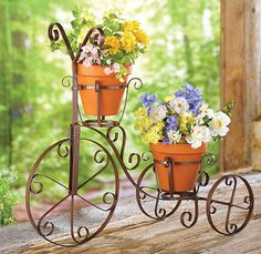 Metal bicycle plant stand by studio 350 old 1890s victorian style bicycle tricycle plant stand flower pot holder workwithnaturefo
