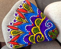 Painted rock / Happiness / from the sea / Sandi Pike Foundas / Cape Cod Beach Stone
