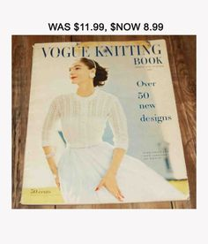 Vogue Knitting Magazine, Vintage magazine published in 1957 (not pdf file) There are; sweaters for men and women and children clothes patterns in varied sizes. The magazine is in good condition for it's age. Pages are slightly yellowing.  Also appears that someone stapled the magazine (you can see it on the picture number 3). All my magazines are kept in plastic covers. Shipping info. The magazine will be send to you via USPS in the cover to prevent it from damage. I will provide w..