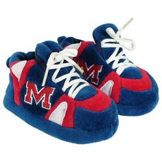 Ole Miss Rebels Baby Slippers