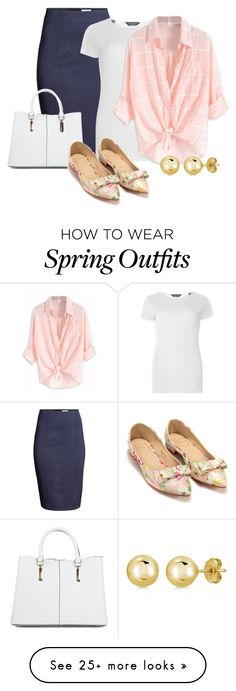 """Spring Wardrobe on a Teacher's Budget: Outfit 23"" by vanessa-bohlmann on Polyvore featuring H&M, Dorothy Perkins, New Look and BERRICLE"