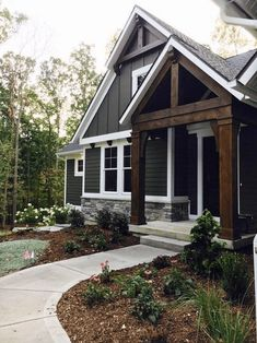 21 gorgeous cottage house exterior design ideas - home accessories - . , 21 gorgeous cottage house exterior design ideas - home accessories - . Modern Farmhouse Design, Modern Farmhouse Exterior, Farmhouse Decor, Farmhouse Style, Farmhouse Ideas, Rustic Exterior, Modern Rustic, Cafe Exterior, Building Exterior