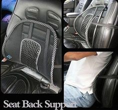 Lumbar Back Support For Car Seat Chair Office Massage Mesh Ventilate Cushion Pad