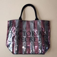 BNWT- Victoria's Secret tote Beautiful sequenced tote. Very sturdy! Perfect for the gym, beach or traveling! Victoria's Secret Bags Totes