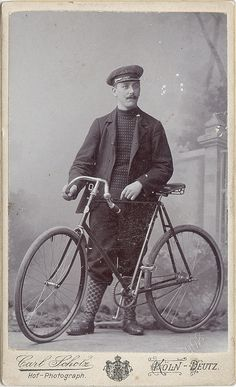 Man with his Bicycle, via Flickr.