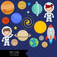 Space Clipart / Planets Clipart / Astronaut Clipart / Clip Art by ClipArtisan on Etsy https://www.etsy.com/uk/listing/466832763/space-clipart-planets-clipart-astronaut