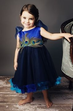Luxury Peacock Special Event Dress/Flower Girl: so cute!