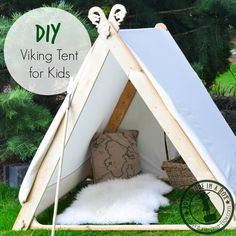 DIY Viking Tent for Kids: Good for indoors and outdoors! So simple that vikings didn't even use nails to build it.