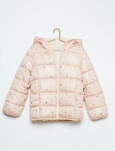 Aan twee kanten te dragen donsjack met capuchon, met sherpa en print ROSE Kinderkleding meisjes - Kiabi