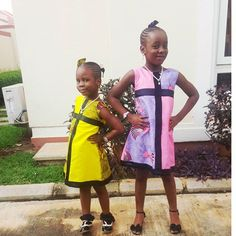 Abada kids wearing the Ifeoma dress. Available in other colors and…