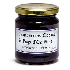 French Jam - Cranberries Cooked in Pays d'Oc Wine  - 8.64 oz: $11.24