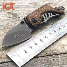 LDT X65 Folding Knife 5Cr18Mov Blade Rosewood Handle X44 Camping Hunting Survival Knives Pocket Outdoor Tactical Knife EDC Tools.