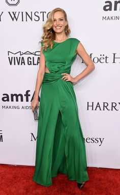 Pin for Later: Your Favorite Models and It Girls Wore the Sexiest Dresses to the amfAR Gala Petra Nemcova Wearing a Vionnet dress, Casadei heels, and Chopard jewels.