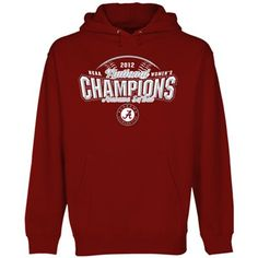 Alabama Crimson Tide 2012 NCAA Women's Softball College World Series Champions Pullover Hoodie Sweatshirt - Crimson $38.95