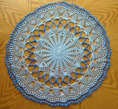Hey, I found this really awesome Etsy listing at https://www.etsy.com/listing/207024856/handmade-blue-round-crochet-doily-open