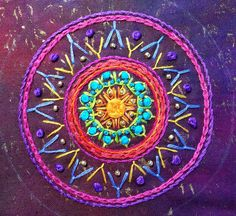 Building up an Embroidered Mandala