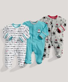 Boys Essentials 3 Pack of Vikings All in Ones - All In Ones - Mamas & Papas